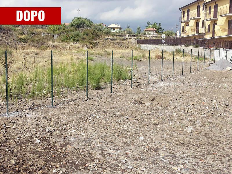 Bonifica e recinzione terreno