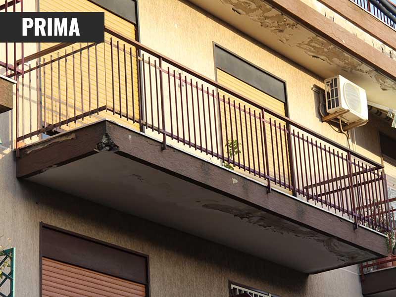 Restauro balcone S. G. Galermo