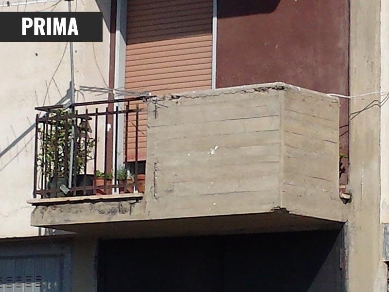 Ripristino cemento balcone